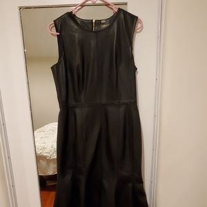 Black faux leather dress Nwot